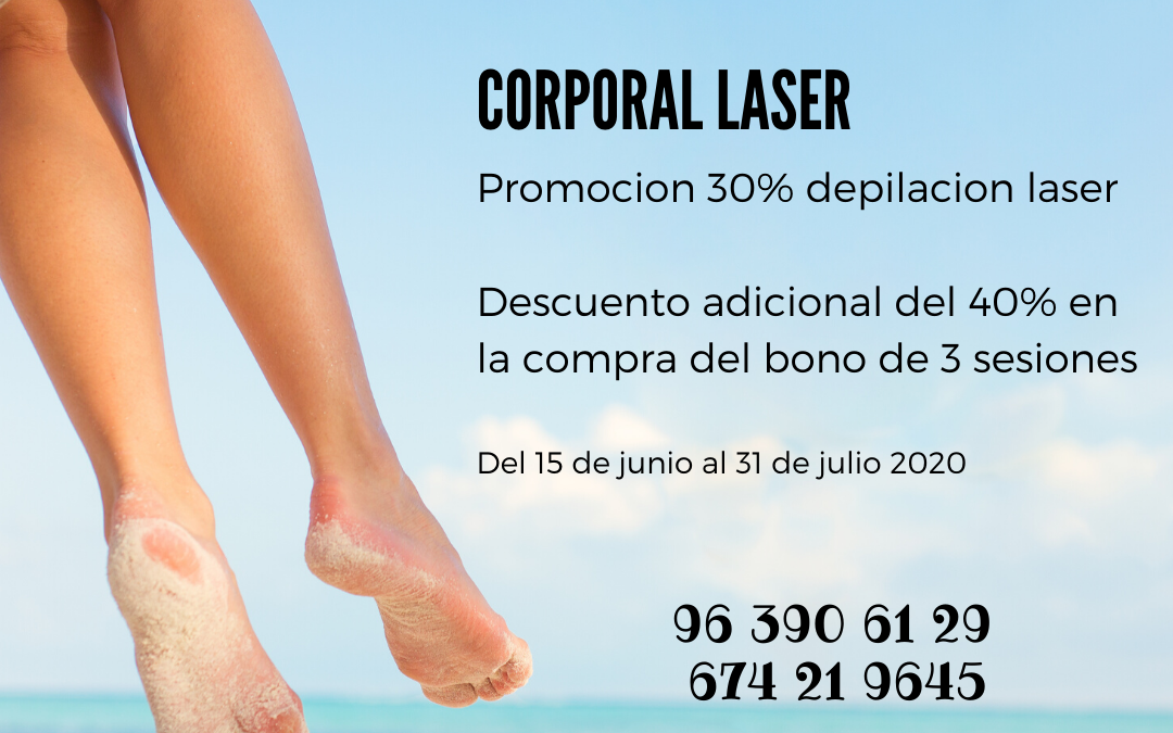 Promocion julio depilacion laser 2020